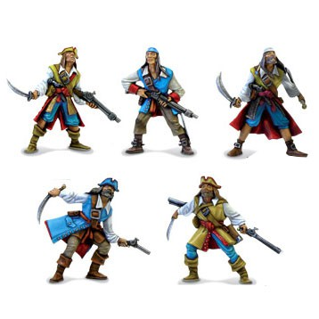 Pirates  Pirates with blades and flint-guns are cool minis.
