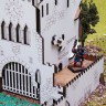 White Castle dice tower  - White Castle dice tower can be used in games with miniatures