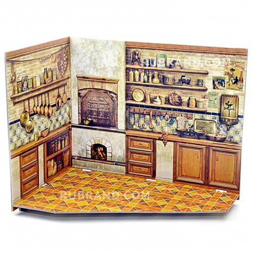 Kitchen roombox  Kitchen roombox is perfect for your dollhouse!